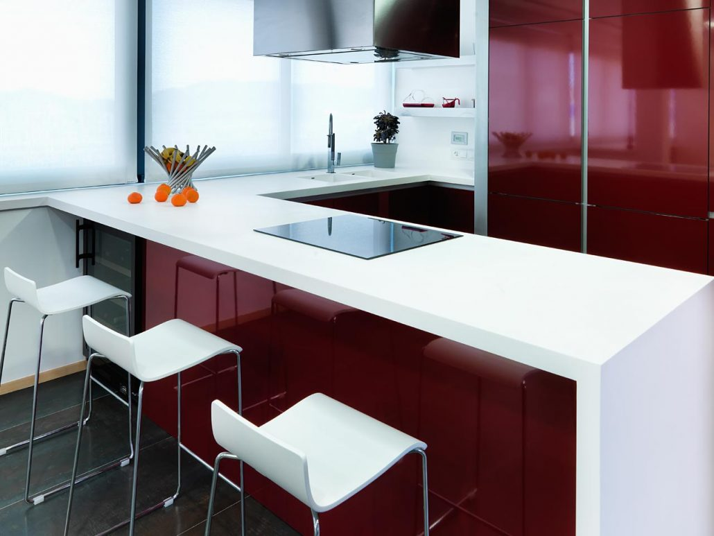 Encimeras de cocina de krion m xima resistencia y belleza para la cocina reformas sarria - Materiales de encimeras de cocina ...